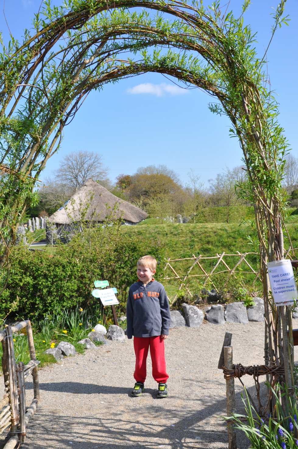At the entrance to Brigit's Garden